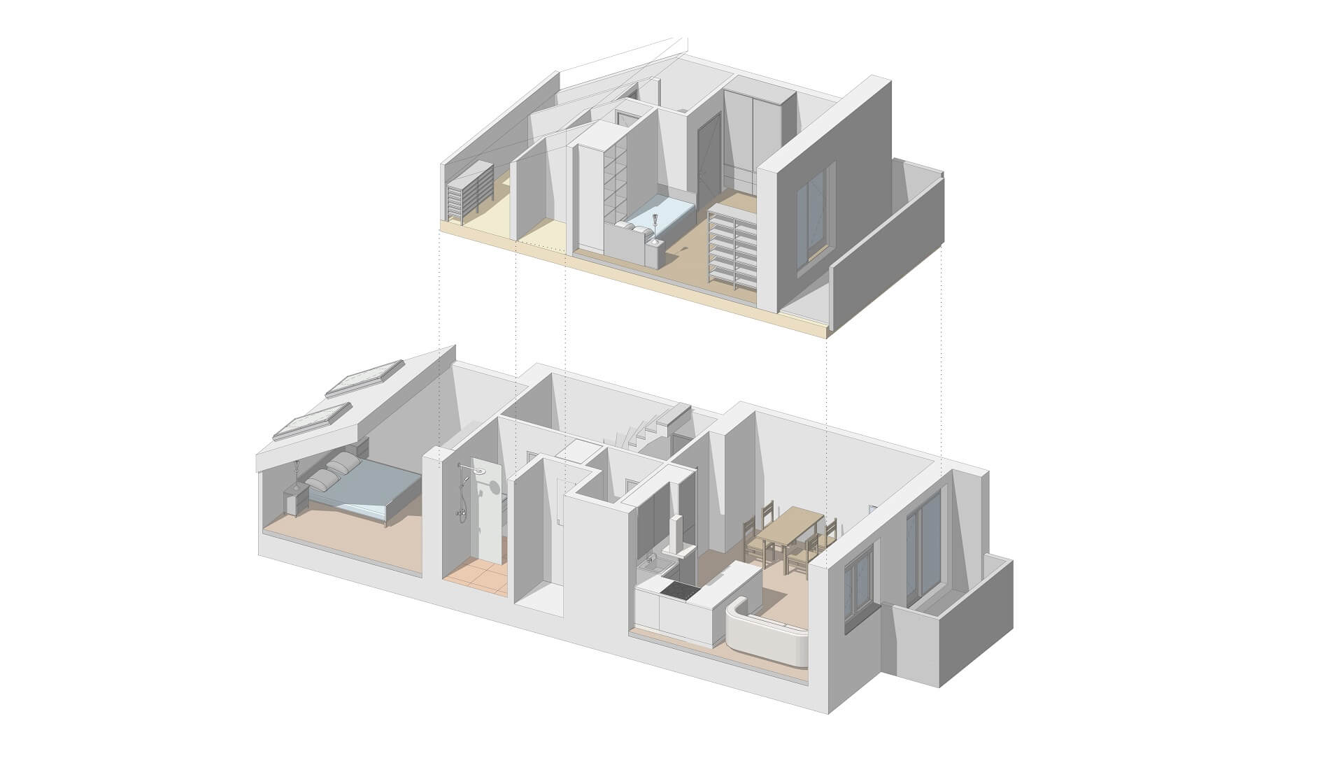 3+KK – Byty na střeše města, byt 16