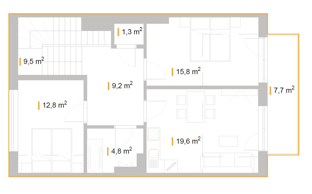 3+KK – Bytový dům Jílkova