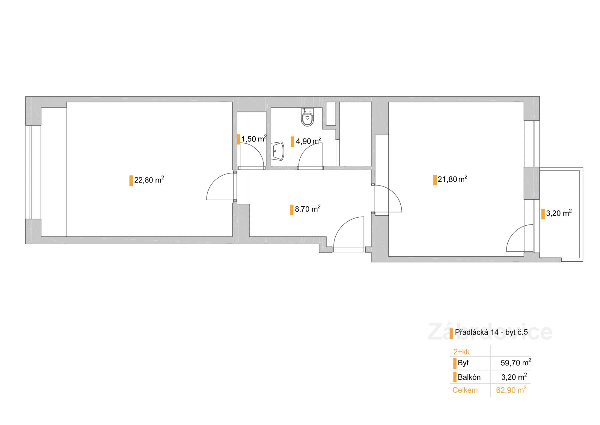 2+kk – Přadlácká 14, byt 5