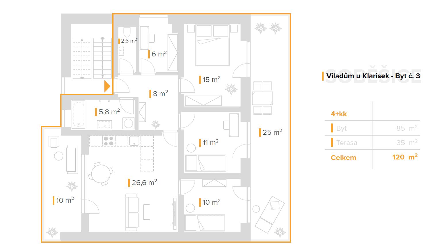 4+kk – Viladům u Klarisek (3)