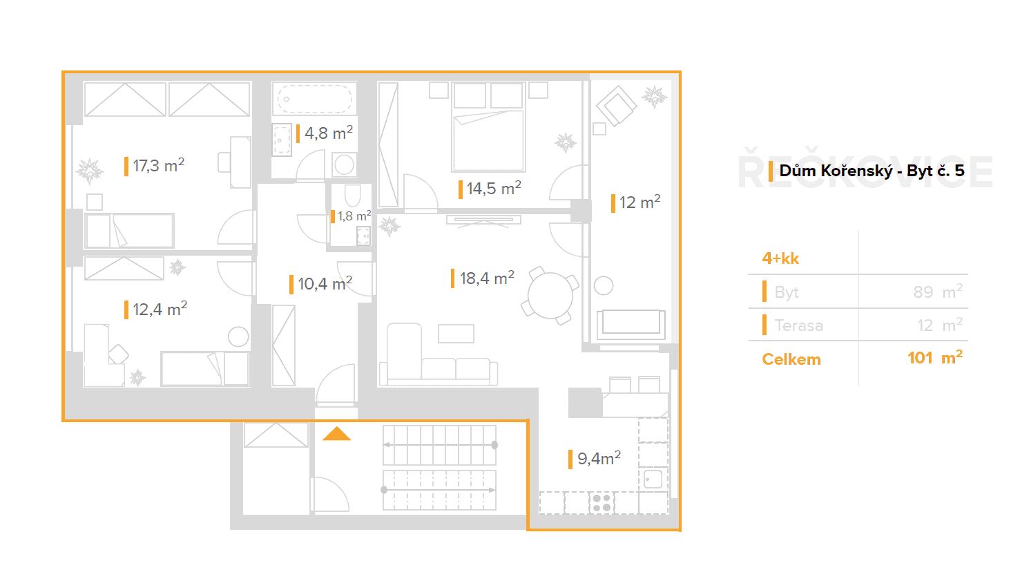 4+kk – Dům Kořenský (5)